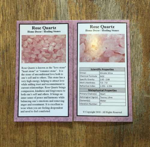 Rose Quartz Info Card