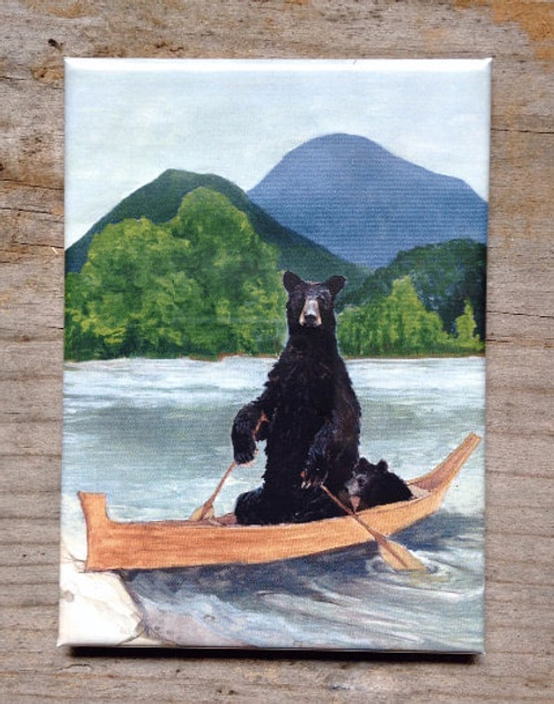 Bears in Boat Magnet