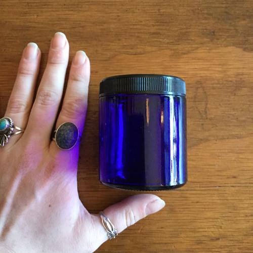 4oz Cobalt Glass Jar