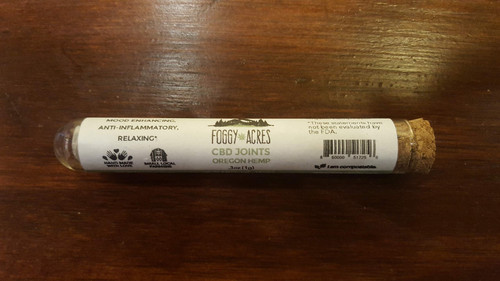 Foggy Acres Pre-Roll in Corked Glass Tube