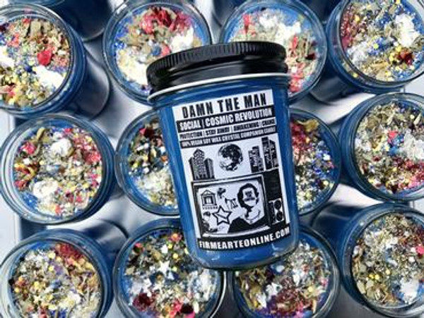 Damn The Man- Soy Spell Candle