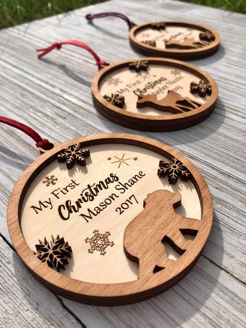 Personalized Babies First Christmas Ornament