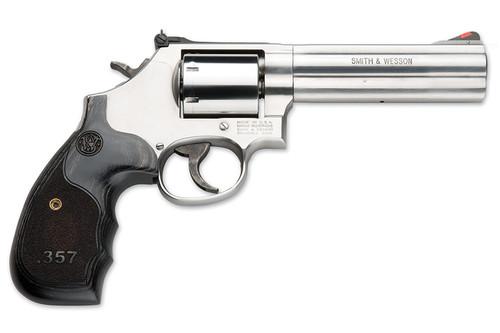 S&W 686 357 Magnum 5-Inch  w/Custom Wood Grips