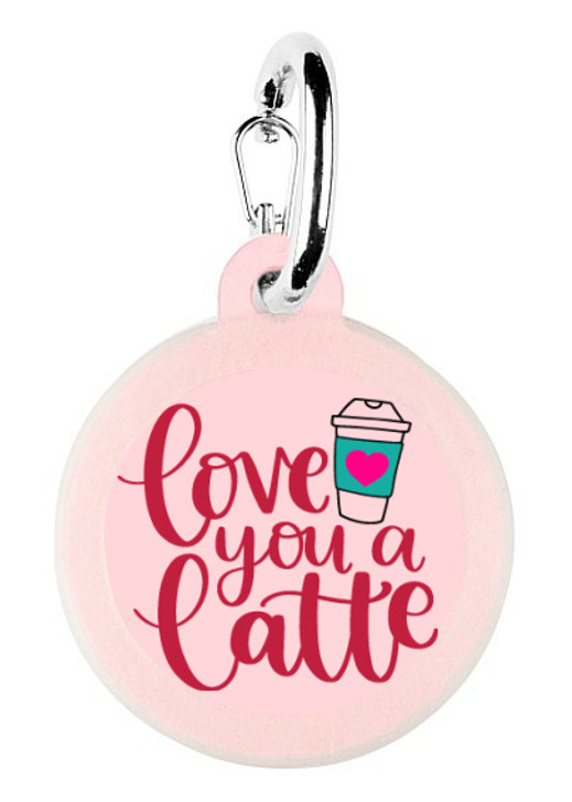 Love You Latte Dog Tag