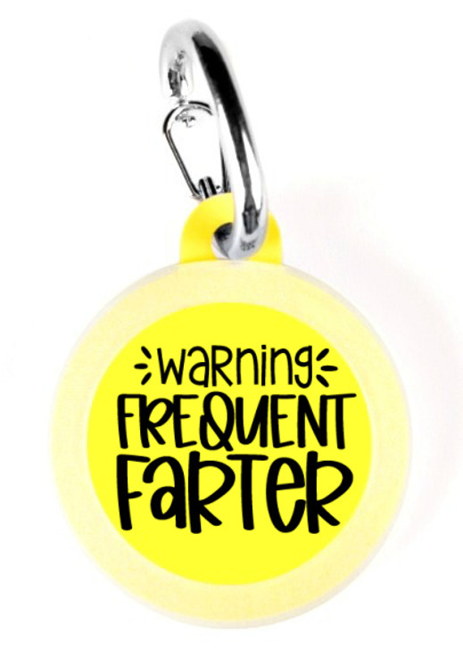 Warning Frequent Farter Pet Tag