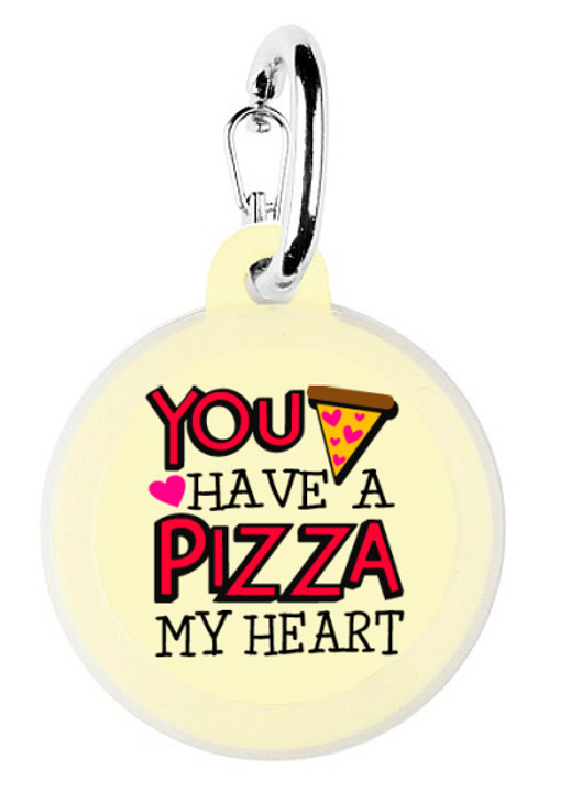 Pizza of my Heart Dog Tag