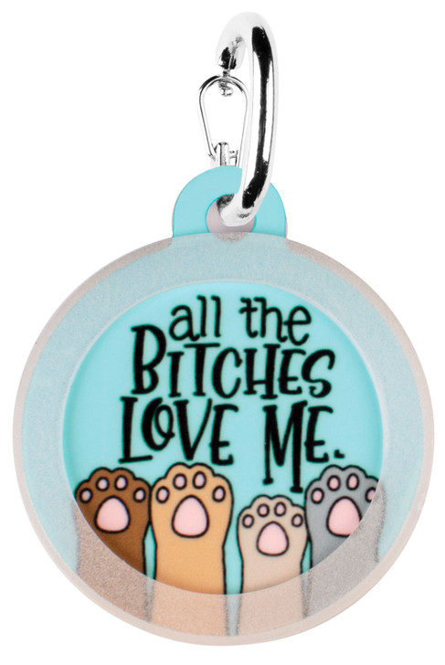 All Bitches Love Me Dog ID Tag