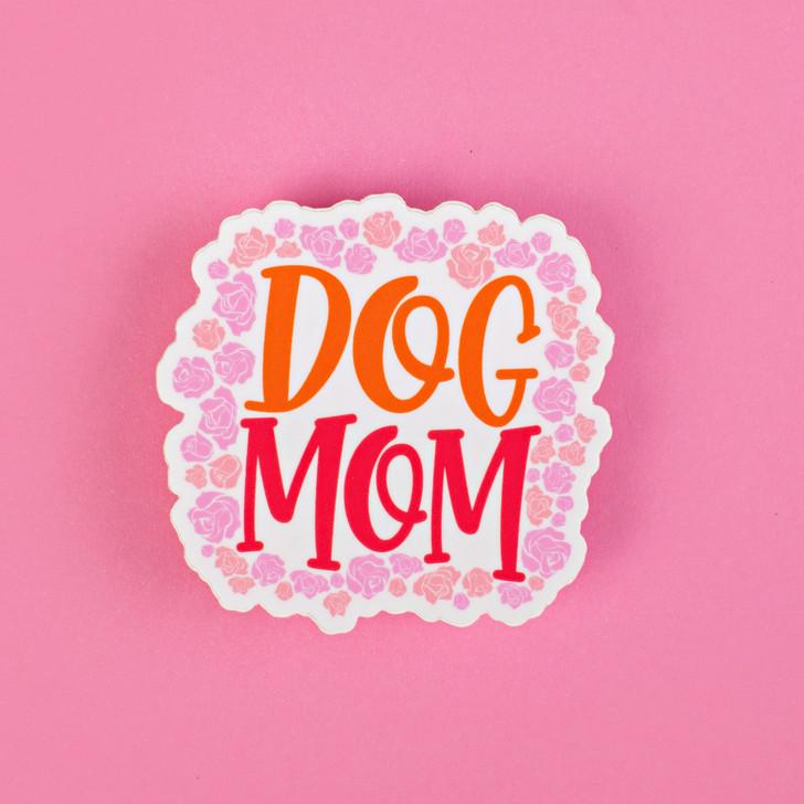 Dog Mom Floral Sticker