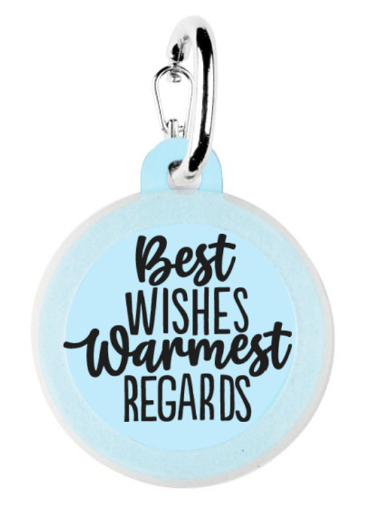 Best Wishes Dog Tag