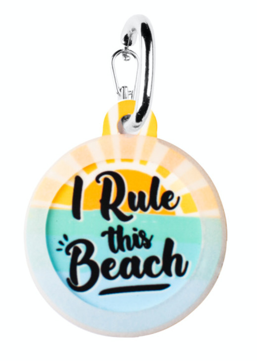 I Rule this Beach Pet ID Tag