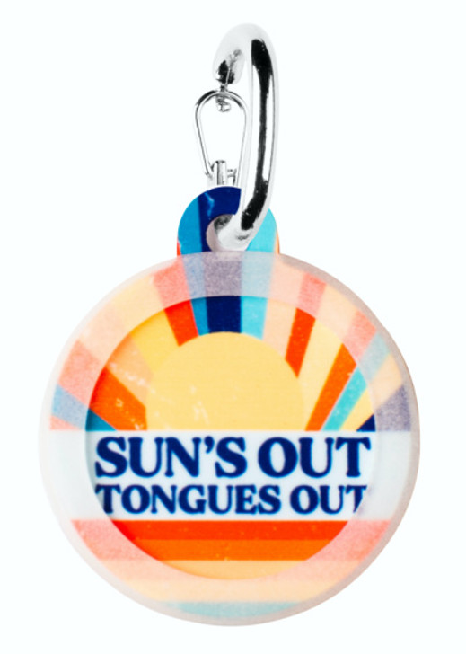 Sun's Out Tongues Out Dog ID Tag