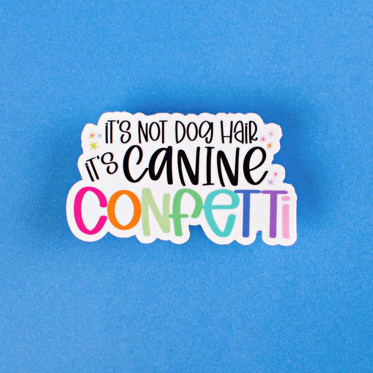 Canine Confetti Sticker