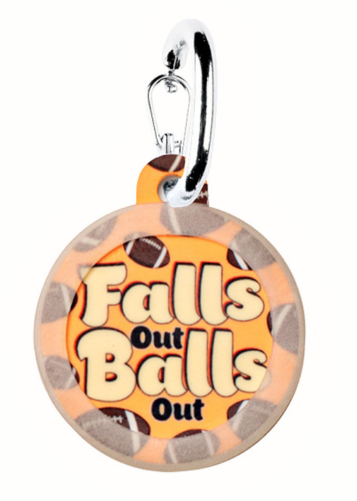 Falls Out Balls Out Pet ID Tag