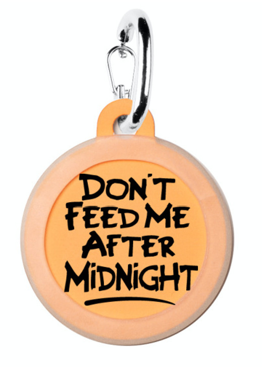 Don't Feed Me After Midnight Dog ID Tag