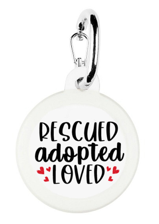 Rescued Adopted Loved Pet Tag