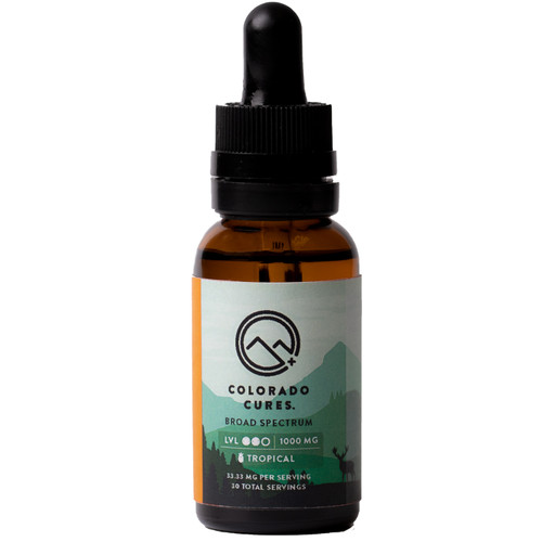Colorado Cures - Tincture - Broad Spectrum - Tropical - 1000mg - 30mL