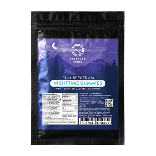 Colorado Cures - Full Spectrum Nighttime Gummy 30mg - 10ct