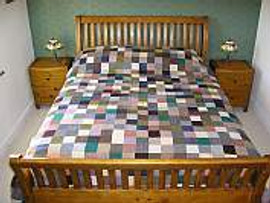 Donegal Tweed Patchwork Quilt