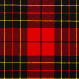 Brodie Red Modern Tartan Fabric Material Medium Weight