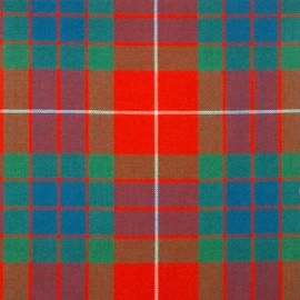 Fraser-Red-Ancient Tartan Fabric Material Medium Weight