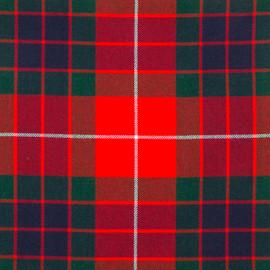 Frazer-Red-Modern Tartan Fabric Material Medium Weight
