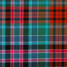 Gordon Red Ancient Tartan Fabric Material Medium Weight