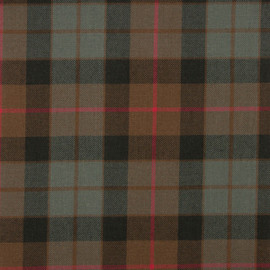 Gunn-Weathered Tartan Fabric Material Medium Weight