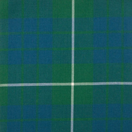 Hamilton Green Ancient Tartan Fabric Material Medium Weight