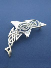 Celtic Dolphin Brooch