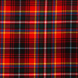 Innes Red Modern Tartan Fabric Material Medium Weight
