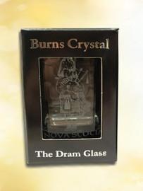 Dram Glass - Piper engraving