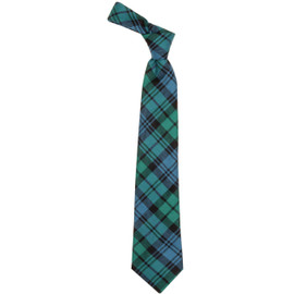 Campbell Clan Ancient Scottish Tartan Plaid Tie For Men | 100% Worsted Wool | Made in Scotland
