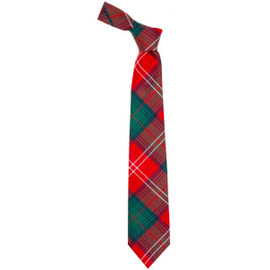 Chisholm Red Modern  Tartan Tie