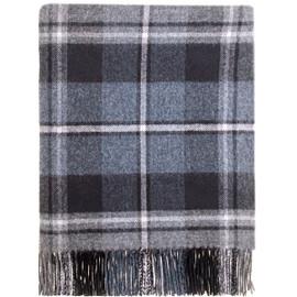 Macrae Hunting Grey Lambswool Blanket