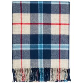 Douglas Navy Lambswool Blanket