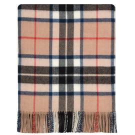 Thomson Camel Modern Lambswool Blanket