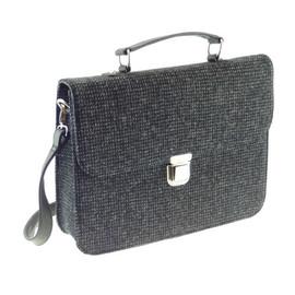 Harris Tweed 'Deveron' Work Bag in Black and White Fleck