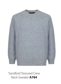 Sandford Textured Crew Neck Sweater
