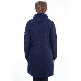 Ladies 3 Buttons Collar Coat