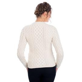 SAOL Ladies Aran Tunic Sweater