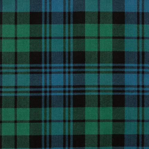Black Watch Modern Tartan Fabric Material Medium Weight