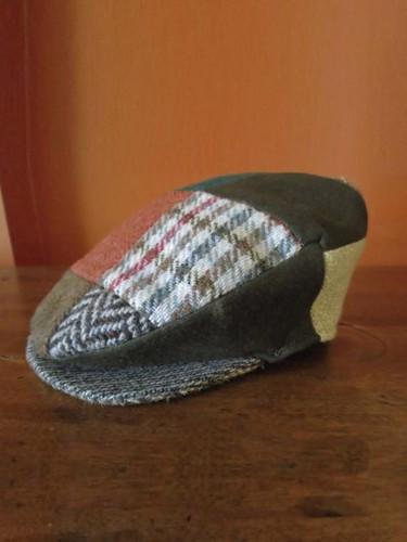 Donegal Tweed Vintage Patchwork Cap