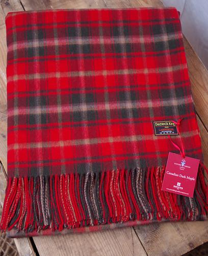 Dark Maple Lambswool Blanket