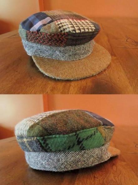 Donegal Tweed Patchwork Skipper Hat