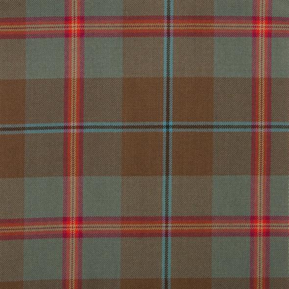 Young Weathered Tartan Fabric Material Medium Weight