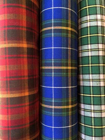 Poly-viscose Tartan Fabric-1589821609