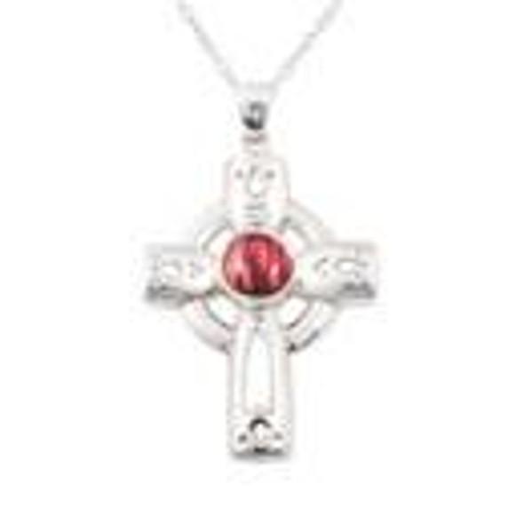 Heathergem Celtic Cross Silver Pendant-1589822002
