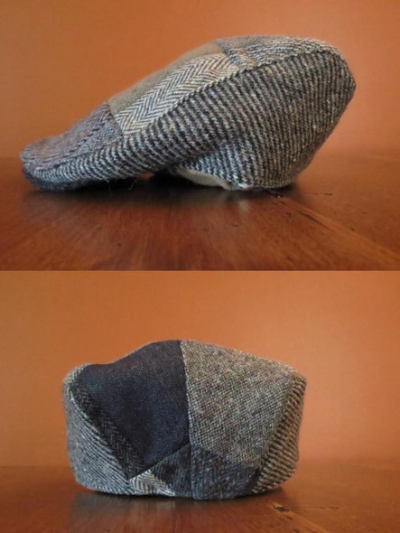 Donegal Tweed Patchwork Touring Cap