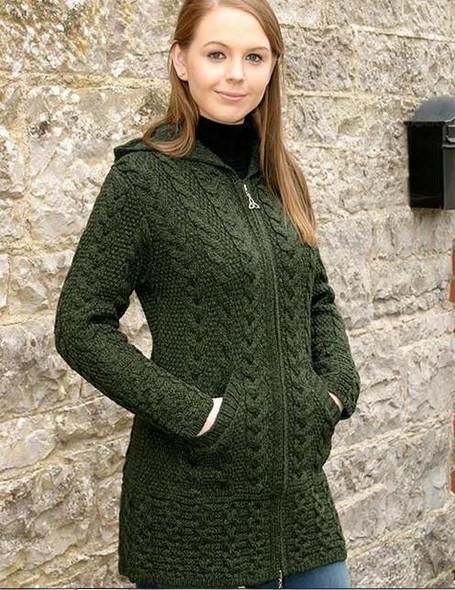 Merino Wool Hooded Coat