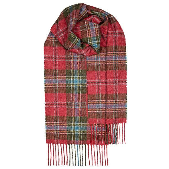 Maclean Of Duart Weathered Lambswool Scarf